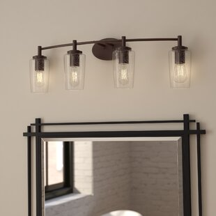 Industrial vanity lights youll love wayfair sicard 4 light vanity light mozeypictures Images