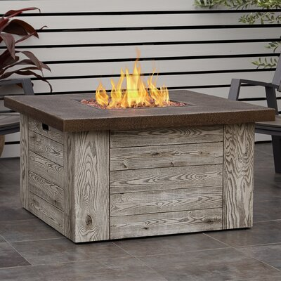 Forest Ridge Concrete Propane Outdoor Fireplace