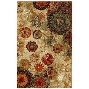 Harger Beige/Orange Area Rug
