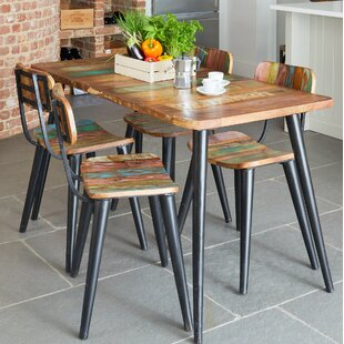 Holden Chic Dining Set With 4 Chairs