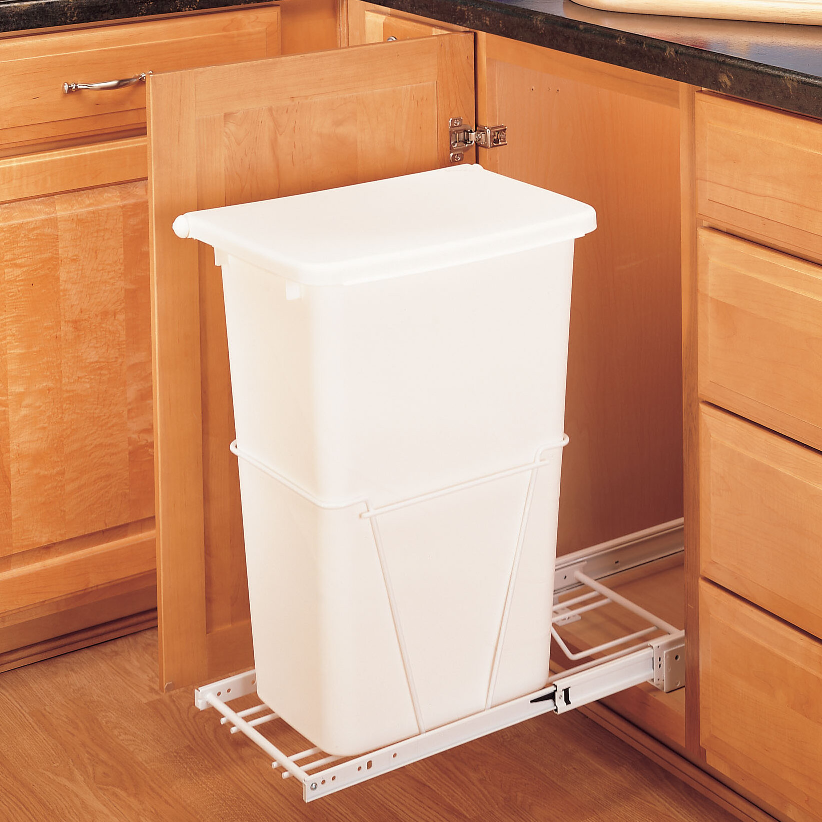 Rev A Shelf Plastic 12 5 Gallon Pull Out Trash Can & Reviews