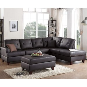 Brannigan Leather Sectional  sc 1 st  AllModern : leather sectional - Sectionals, Sofas & Couches