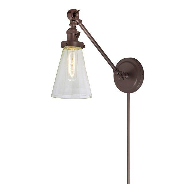 Martucci Double Swivel 1 Light Swing Arm Lamp