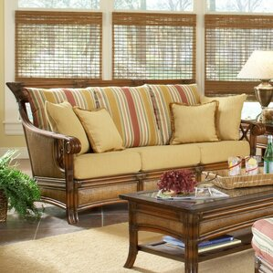 Pacifica Jasmine Antique Stripe Sofa by South Sea Rattan