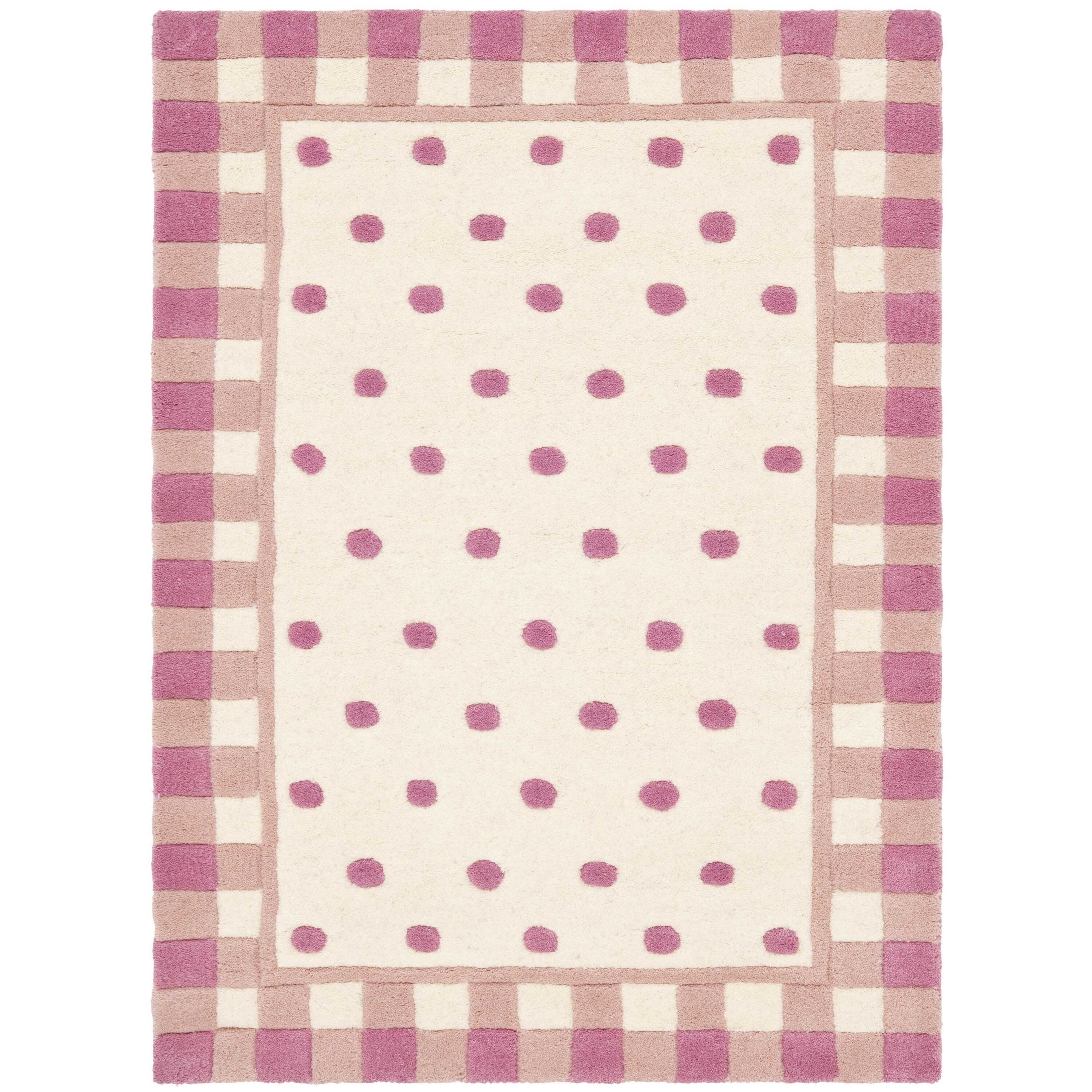 Safavieh Novelty Hand-Woven Wool Ivory/Pink Area Rug