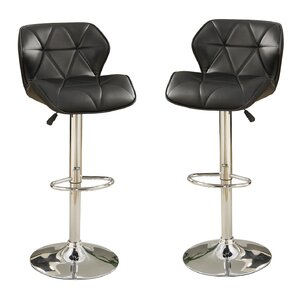 Bobkona Frances Adjustable Height Bar Stool (Set of 2) by Poundex