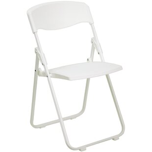 Laduke Heavy Duty Plastic Folding Chair In White
