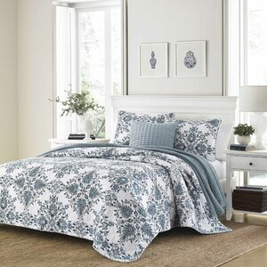 Holmstrom 100% Cotton Reversible Quilt Set