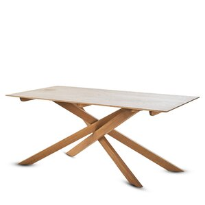 Gokhle Wood Dining Table by Union Rustic