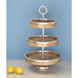 Greatest 3 Tiered Wooden Tray | Wayfair KD84