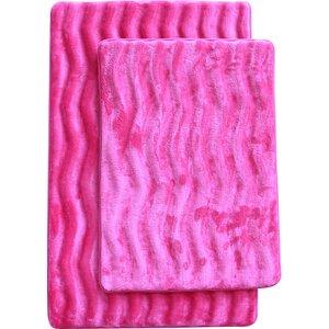 Saulter Wave 2 Piece Bath Mat Set