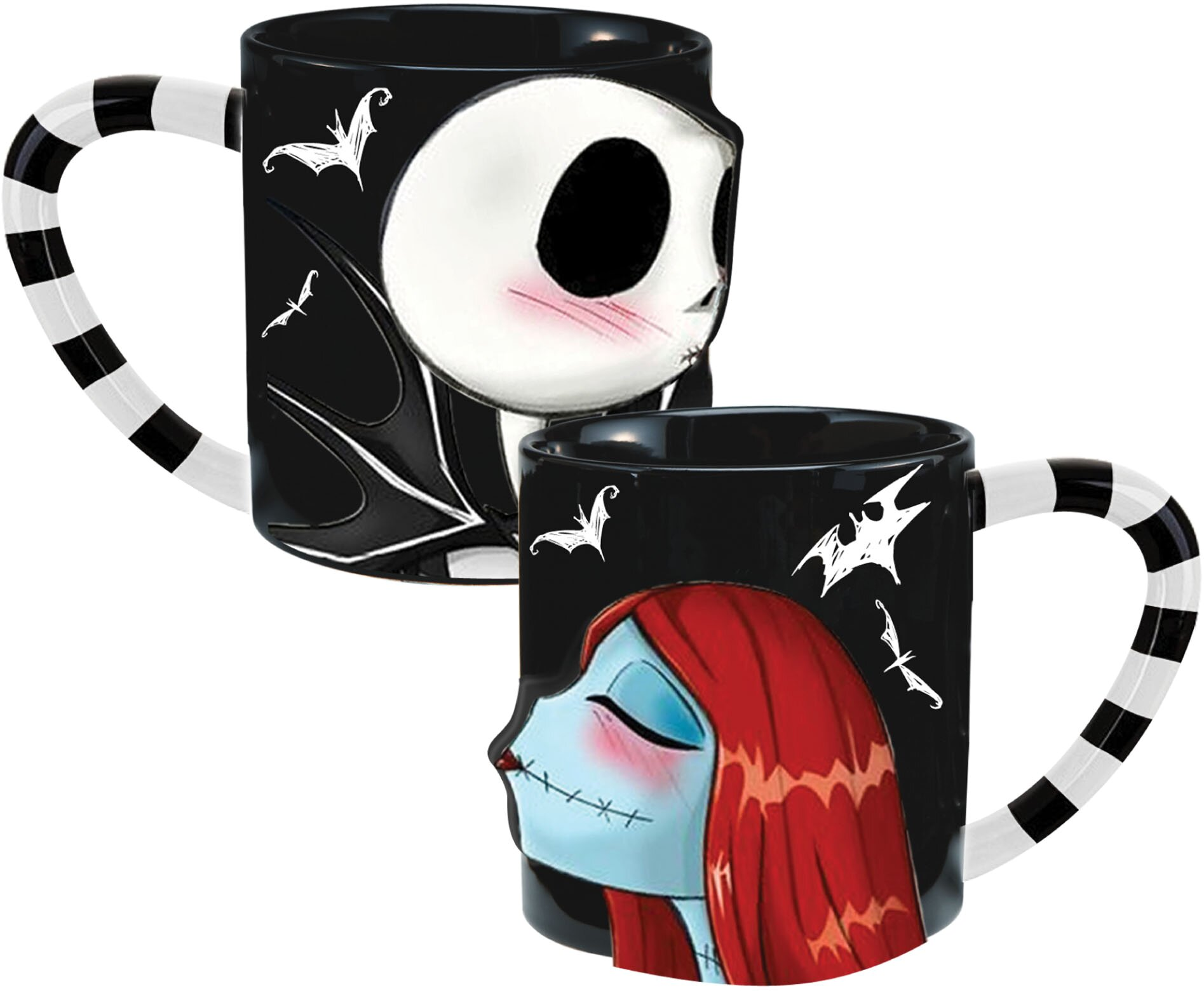 Vandor Nightmare Before Christmas 2 Piece Ceramic Coffee Mug Set ...