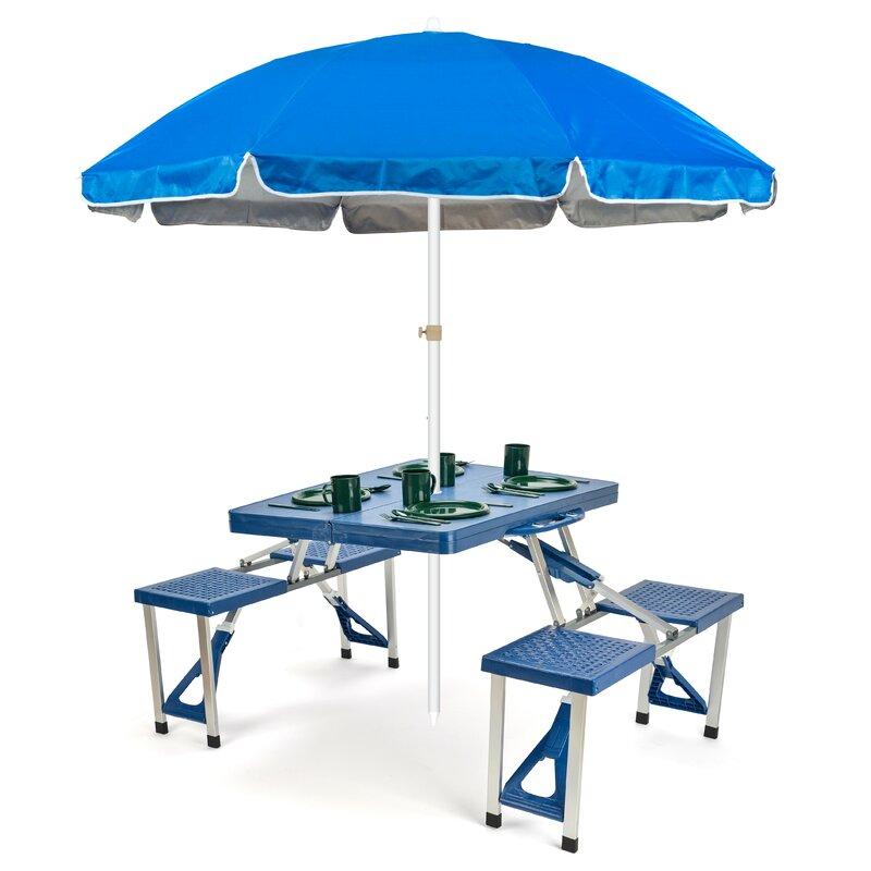 Portable Folding Picnic Table 6 5 Beach Umbrella