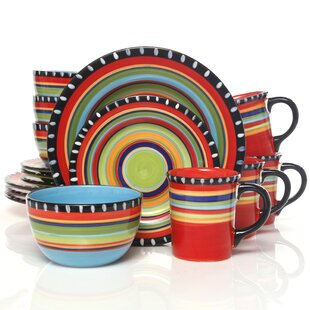 Doumet 16 Piece Dinnerware Set  sc 1 st  Wayfair & Dinnerware Sets Without Mugs | Wayfair
