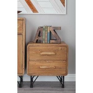 Wood/Metal End Table