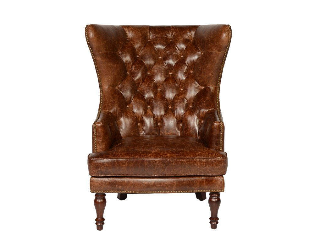 Lazzaro Leather Sedgefield Wingback Chair & Reviews