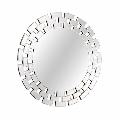 Brayden Studio Round Glass Wall Accent Mirror