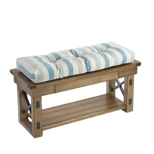 Gripper Coastal Stripe Extra Thick Non Slip Bench Cushion