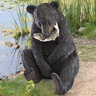 The Expert Fisherman Bear Statue