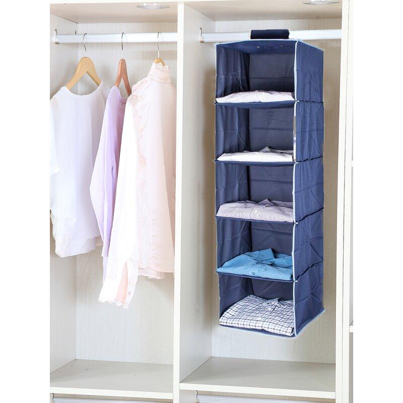 Rebrilliant Eberly 11 81 Storage Hanging Closet Organizer Reviews Wayfair