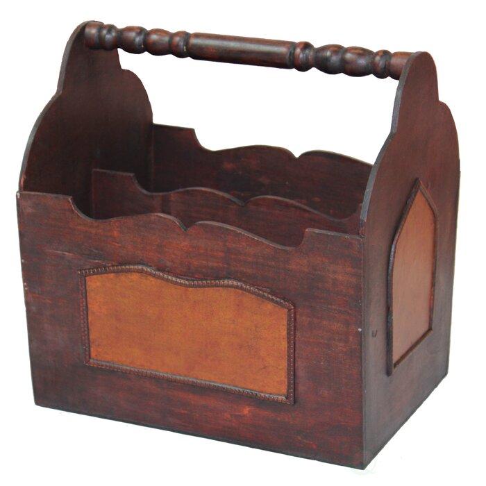 Exceptionnel Barnard Handcrafted Decorative Wooden Magazine Rack