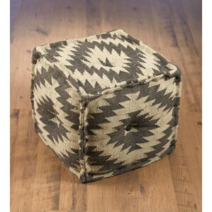 Abkarian Square Kilim Pouf Ottoman by Union ..