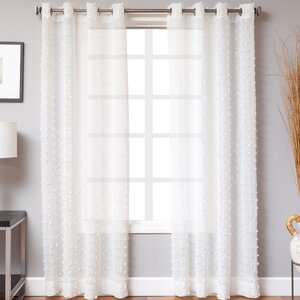 Walls Abstract Sheer Grommet Single Curtain Panel