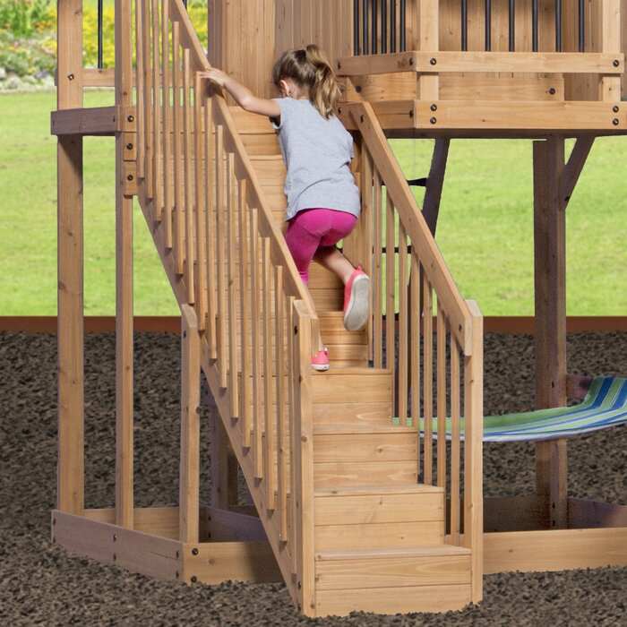 Backyard Discovery Oceanview All Cedar Swing Set Reviews Wayfair Ca