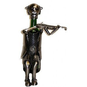 Violinist 1 Bottle Tabletop Wine Rack by Three Star Im/Ex Inc.