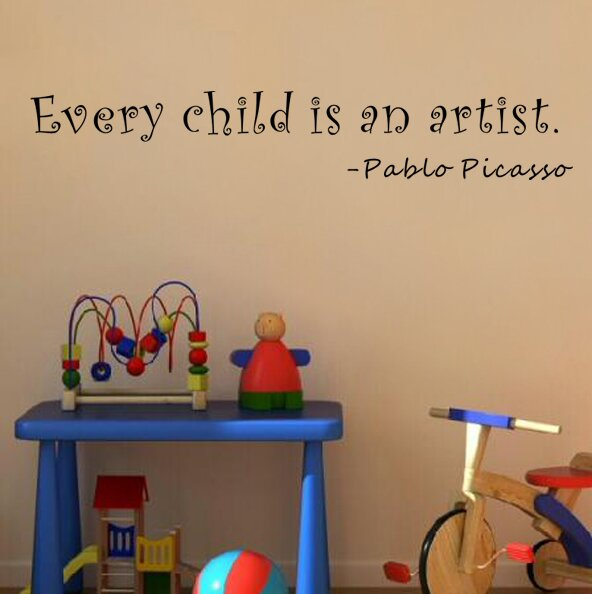 Pop Decors Every Child Is An Artist Pablo Picasso Wall