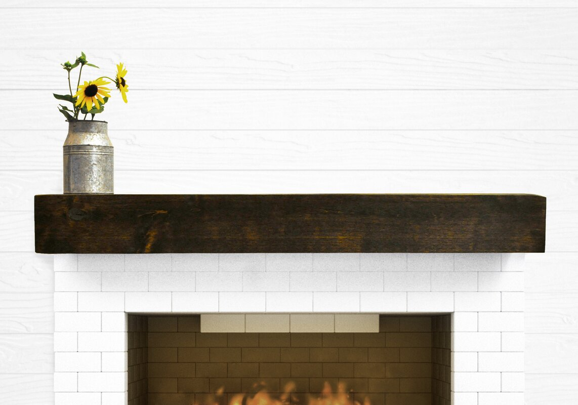 Dogberry Collections Modern Farmhouse Fireplace Mantel Shelf ...