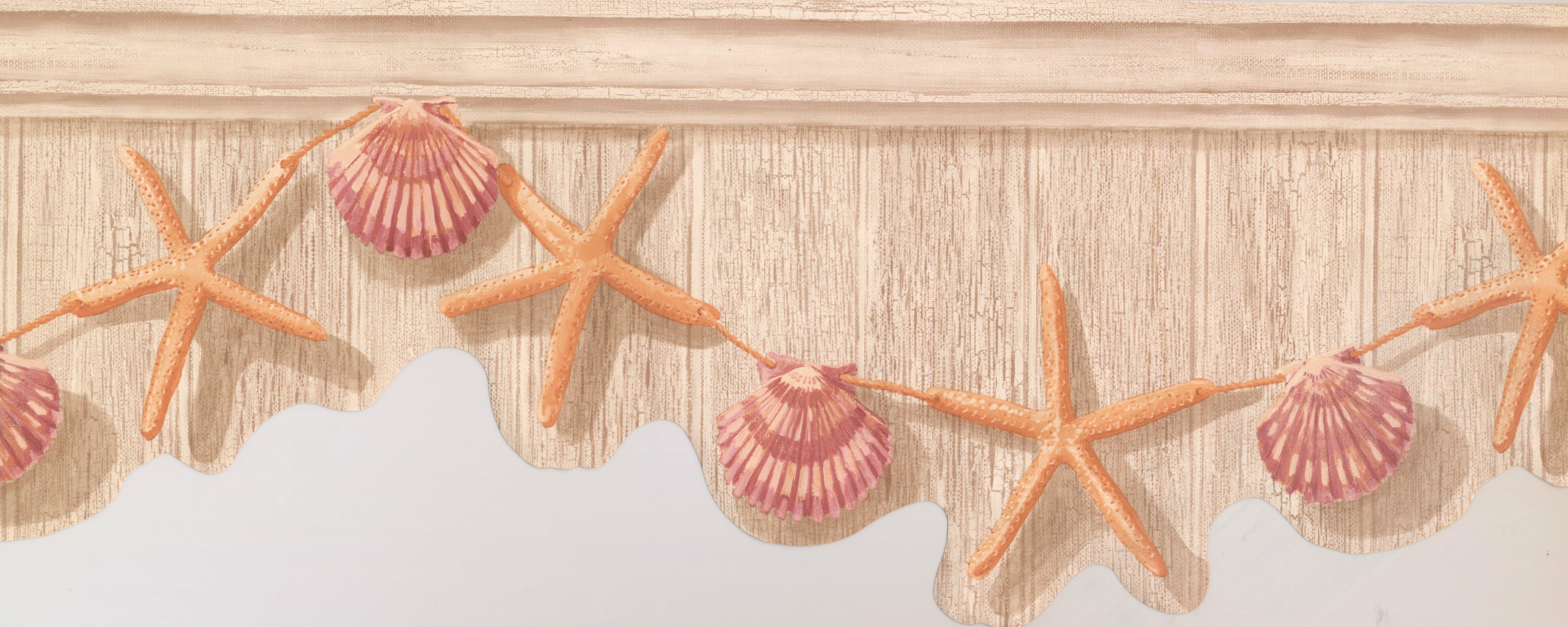 York Wallcoverings Starfish Seashell 15 L X 10 W Abstract Wallpaper Border Wayfair