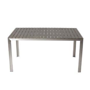 Latham Sleek And Modish Trendy Anodized Aluminum Dining Table