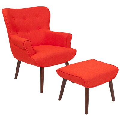 Orange Wingback Accent Chairs You Ll Love Wayfair