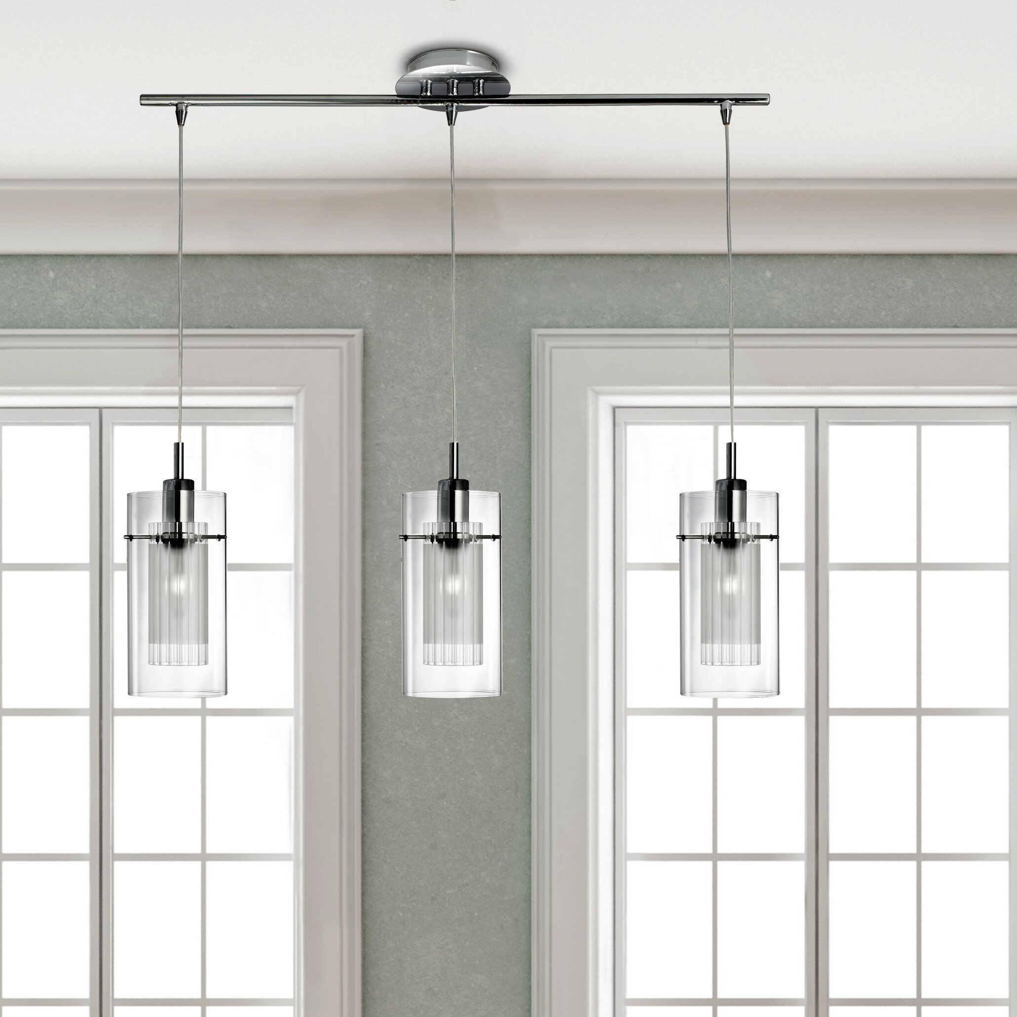 Wade Logan Carl 3-Light Kitchen island Pendant & Reviews | Wayfair.co.uk