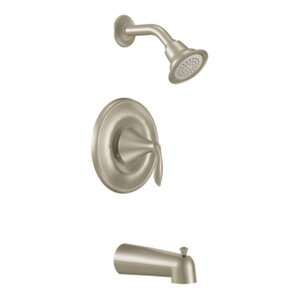 shower attachment for bathtub faucet. Moen Eva Posi Temp Pressure Balance Tub and Shower Faucet Trim with Lever  Handle Brushed Nickel Faucets You ll Love Wayfair