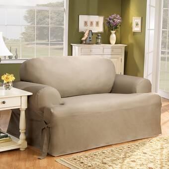Fabulous Sure Fit Cotton Duck T Cushion Loveseat Slipcover Reviews Interior Design Ideas Grebswwsoteloinfo