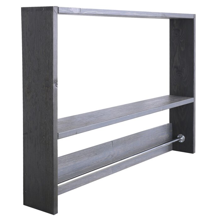 shelf bathroom rovate towel ring size wall with rail x mounted regarding rack