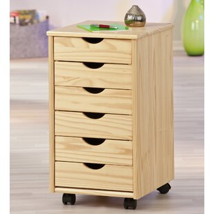 Container 6 Drawer Mobile Vertical Filing Cabinet