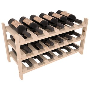 Mangels Pine Stackable 18 Bottle Tabletop Wine Rack by Andover Mills