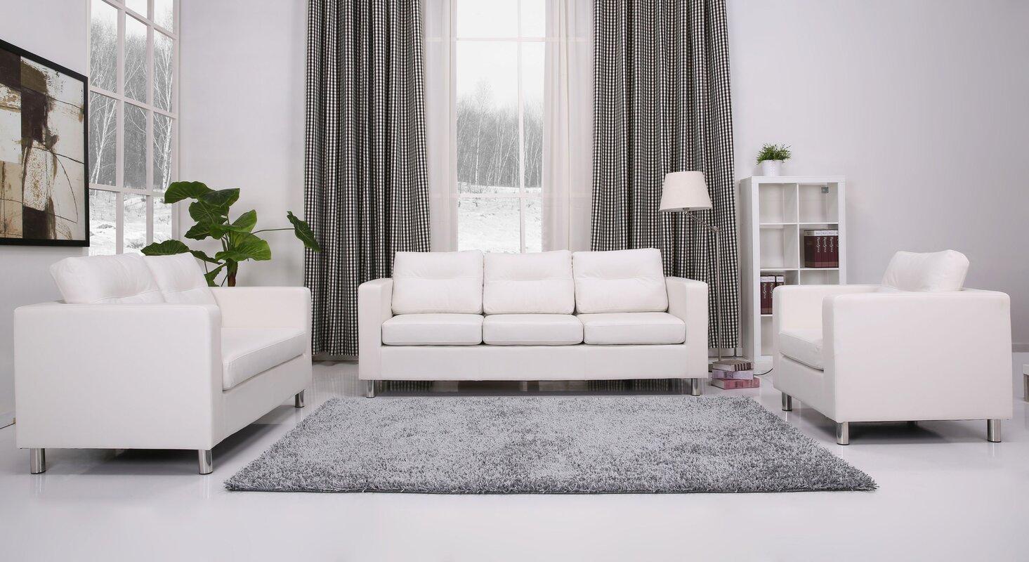 Wade Logan Clarence 3 Piece Living Room Set & Reviews | Wayfair