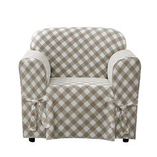 Buffalo Check Box Cushion Armchair Slipcover