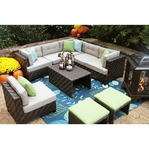 Kiana 7 Piece Lounge Seating Group with Sunbrella Cushions