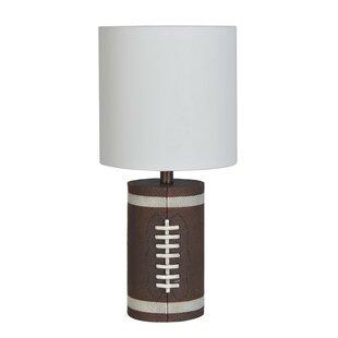 Football lamp wayfair estela 19 table lamp set of 2 aloadofball Images