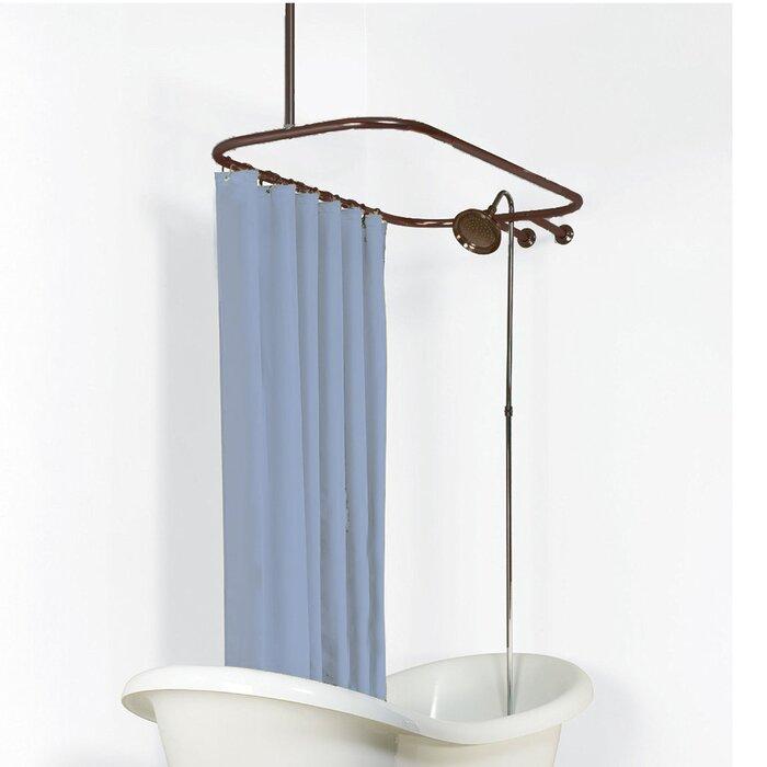 Never Rust 5775 Oval Shower Curtain Rod