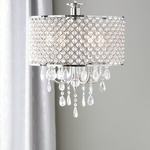 Aurore 4-Light LED Drum Chandelier