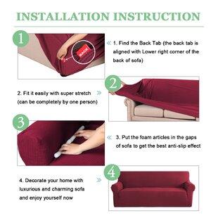 Red Sofa Slipcovers You\'ll Love | Wayfair