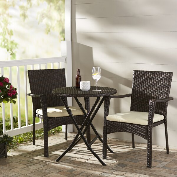 Three Posts Grampian 3 Piece Bistro Set Amp Reviews Wayfair