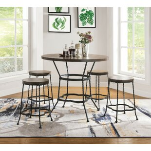 Corry 5 Piece Counter Height Dining Set