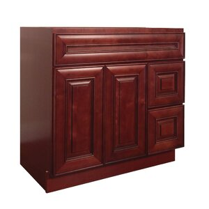 Maple 36u201d Single Bathroom Vanity Base